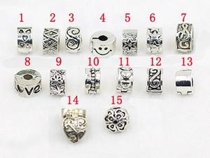 DIY Armband Stopper Perlen antikes Silber überzogene Legierung Schnalle