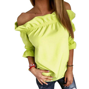 Sexy off shoulder white blouse women Neno cool blouse 2016 female blusas Fluorescent camisa summer shirt and top Women Beach Blouses rose
