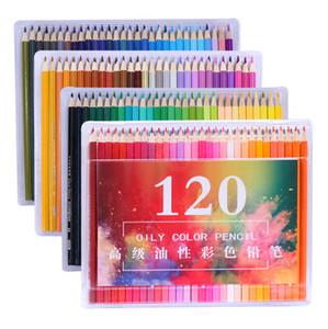 그리기 스케치 미술 용품에 대한 새로운 디자인 나무 120Colored 연필 세트 라피스 드 고전 학교 페인팅 예술가 오일 컬러 연필
