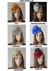 NUOVO DESIGN Sinamay Mini Top Hat Fascinator con Calla Lilies Sinamay. Ideale per Matrimoni, Razze