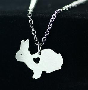 2016 Original Drôle mignon lapin collier simple belle animal pendentif collier bijoux de mode en acier inoxydable collier Animal