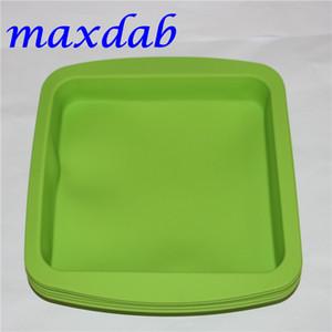 "Hot DHL silicone cera prato panela profunda forma quadrada 8 ""X 8"" amigável Non Stick Silicone Recipiente Concentrado bandeja de silicone de grau alimentício"