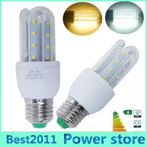 Energy saving 5W E27 LED Corn Bulb Outdoor Lighting 24 SMD 2835 360 Degrees U Shape AC85-265V LED lamp Chandelier Candle Light