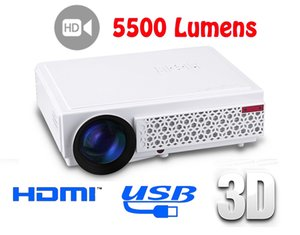 New LED96+ LED Projector 1080P 5500lumens Video HDMI USB 1280x800 Full HD Home theater projector proyector 3D projector 1pcs DHL