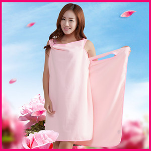 Frauen Wearable Badetuch Kleid Superfine Faser Bademantel Spa Strapse weiche Verpackungs-Rock Handtücher Super Absorbent Home Textile