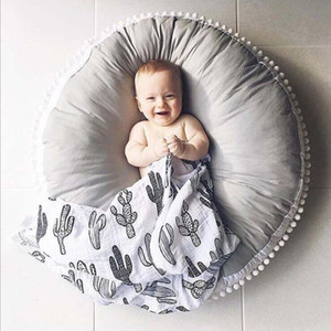 QEARL swan blanket baby toy pad 2017 new baby bedding blanket children's room decoration baby crawling pad. INS explosion cotton wool ball c