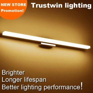 O estilo moderno fixado na parede IP65 waterproof a luz de parede 40CM do espelho 54CM 80CM 1M A lâmpada acrílica da luz de parede do espelho do banheiro do diodo emissor de luz