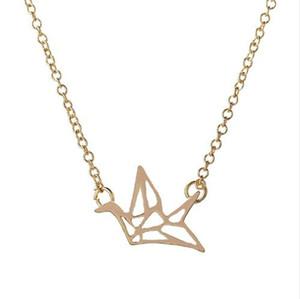 2016 nouveau collier de mode et de beaux oiseaux de l'origami grue collier femme longue chaîne collier beau cadeau pour le meilleur