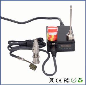 Mini titanium d Caixa de prego Bobina Com Ti Prego Vapor Wax Dry Herb Controlador de Temperatura Eletrônico Caixa de ajuste de vidro bong cigstore caixa de unhas