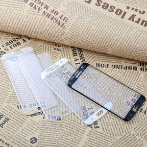 Protections d'écran de téléphone portable pour Samsung Galaxy S7 Edge S7 Film de protection d'écran en verre trempé Anti-Scrat 3D Curved Retail Package Free DHL