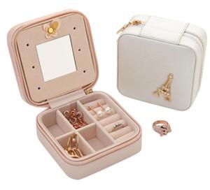 Scatola d'imballaggio del cofanetto d'imballaggio dei gioielli per la cassa di trucco squisita Cosmetici Contenitori di contenitore dell'organizzatore di bellezza Regalo di compleanno di graduazione