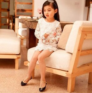 Vente nouvelle jolie princesse filles enfants enfants sandales en cuir boucle de boucle chaussures à talons plats pour 2-10 ans