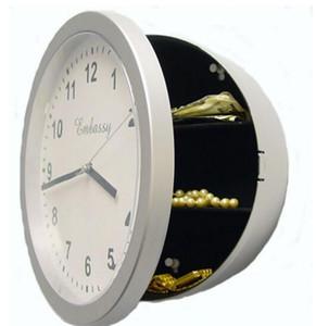 Horloge Boîte de rangement de bijoux Coffre-fort Horloges Boîte de rangement Safe Wall Horloges Décoration de la décoration Numéro de chiffres Chambres Décoration Montre Montre Horloges