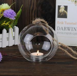 Titulaire de lumière de thé Orb en verre soufflé 2016 Dia 8cm, chandeliers suspendus pour chandelier de mariage / décoration de mariage / décoration / ornements de maison