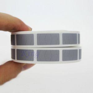 Etiqueta engomada de la etiqueta engomada del rasguño de 1000PCS Etiqueta engomada de la etiqueta engomada de la cubierta del código del color de plata en blanco 10 x 20m m
