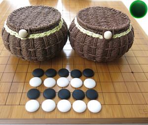 Spedizione gratuita Yunnan yunziweiqi Backgammon Bambù 2 cm di spessore Reticolo Doppia Scacchiera Cinese scacchi weiqi Set