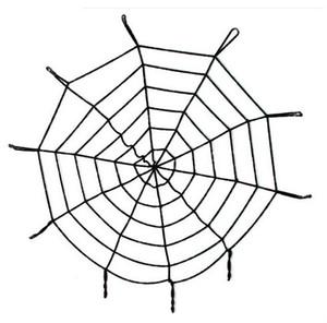 Al por mayor Nueva decoración de Halloween enorme telaraña Araña Telaraña Partido bandas suministra la decoración de Halloween de regalos para Halloween