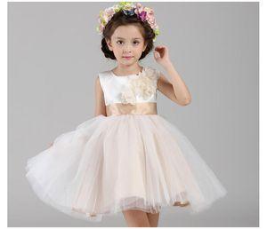 Yeni düğün çiçek kız elbiseler, moda prenses elbise markası yüksek saflıkta pamuk çocuk giyim kız elbise EMS / DHL ücretsiz