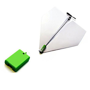 FREE DHL DIY Folding Paper Airplane Electric Motor Power Modules Up Toys Kids Outdoor Sports For Children Retail Package