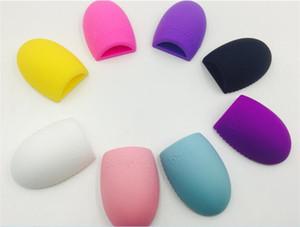 8 Farben Pinsel ei Reinigung Make-Up Waschbürste Silica Handschuh Wäscher Bord Kosmetik Saubere Werkzeuge Gemacht schönheit D914