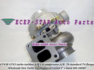 Turbina GT45 GT45R-2 turbo turbocompresor. Compresor de A / R 1.0. A / R .70 estándar T4 brida aceite refrigerado 4
