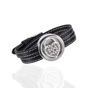 20PCS lot sweet heart Hollow pendant 316L Stainless Steel essential oil diffuser aromatherapy locket Bracelets