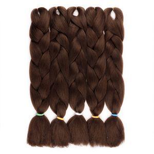 FASHION FREE SHIPING EASY Jumbo BRAIDS SYNTHETIC 합성 머리 2 색 합성 섬유 JUMBO BRAIDS 확장 24 인치 옴브 상자 머리띠