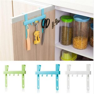 Wholesale- Organizer Hanging Kitchen Cupboard Door Hook Kitchen Cabinet Back Stand Trash Garbage Bags Storage Holder Rack YL878448
