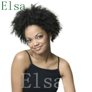 100% human real hair wig Top Quality Natural Soft Kinky Curly Cheap Short Pixie Cut hair lace Wig free shipping
