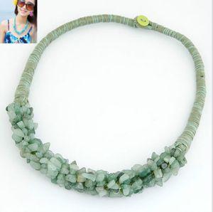 Chaude semi-précieuse perles collier de corde à la main turquoise AVENTURINE rose quartz oeil de tigre améthyste livraison gratuite