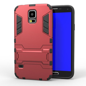 For Galaxy J5 S6 Edge Iron Man Holster Armor Case For Samsung Galaxy S5 G900 Neo SMG903F Cover Drop Proof Heavy Duty Rugged Soft