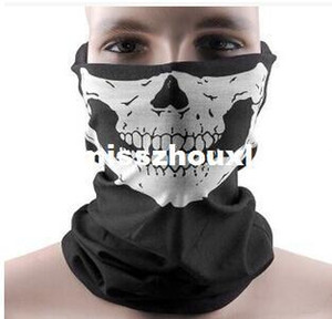 DHL Free shipping 1000pcs Skull Design Multi Function Bandana Ski Sport Motorcycle Biker Scarf Face Masks Facial Mask