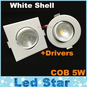 techo de mazorca luces descendentes led 5w led downlights regulables lámparas de iluminación empotradas CRI85 ac 110-240V + CE ROHS UL SAA