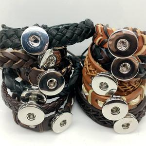 참 손목 스냅 버튼 가죽 팔찌 교환 할 수있는 생강 스냅 단추 Wristbands Fit 18 / 20mm Noosa 스냅 버튼 생강 스냅 보석