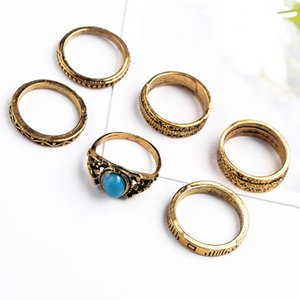 Wholesale manufacturers selling 6 woolly gold-plated ring joints restoring ancient ways men and women general allergy free high quality