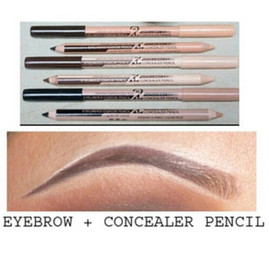 Hot Menow Cosmetic 2 in 1 Makeup Pencil Concealer+Eyebrow Pencil Two-head Pencils Manufacturer 48Pcs lot Free Shipping