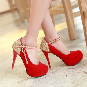New Suede Fashion With Round 2021 Style Table High Heel Fine Heel Head Spring Autumn Waterproof And Women's Shoes@36999 Hgqqh