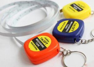 DHL FREE measure tapes Mini 1M Tape Measure keychain keychains Steel Ruler Portable Pulling Rulers With Key Chain rings christmas gift