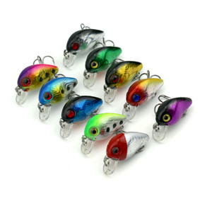 Hengjia Wholesale 100pcs 3CM 1.5G Fishing Lures isca artificial hard crank bait wobblers pesca fishing tackle lure crankbait