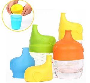 2020 nuevas tapas tapa tetina de silicona Sippy para cualquier niño tamaño de la taza Los niños pequeños de fuga Copa para bebés y niños sin BPA