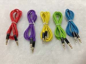 Aux Audio Cable Car Audio Cable with 3.5mm Metal Head Male to Male Aux Cable Car Aux Audio Connector الجملة