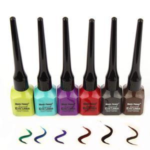 Atacado-6Pcs / lot Color Delineador Líquido lápis 6 cores à prova de água forro de olho Gel Maquiagem Cosméticos frete grátis
