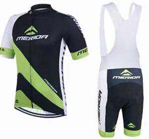 Merida Siyah Bisiklet Jersey Kısa Kollu ve Bisiklet Önlüğü şort Bisiklet Kitleri bisiklet giyim bisiklet giyim