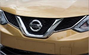 Nissan Qashqai 2016-2018 için yüksek kaliteli paslanmaz çeliğin 2adet araba ızgara dekorasyon Döşeme çubuğu