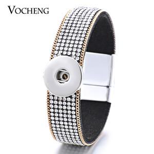 NOOSA Snap Charms Bracelet Magnet Fermoir Tissu Bijoux Interchangeables Bling Cristal Fit 18mm Bouton VOCHENG NN-420