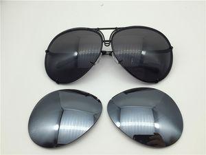 Auto Carreras Sonnenbrille P8478 Ein Spiegellinse-Pilotrahmen mit zusätzlichem Objektiv Austauschauto Große Größe Männer Design Sonnenbrille