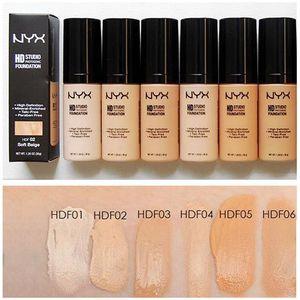 Maquillaje NYX HD Studio Photogenic Foundation Powder NYX Base líquida NYX Face Foundation 6 colores con caja al por menor