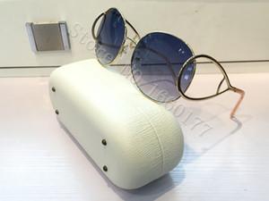 2016 mais novo senhora óculos de sol JACKSON 124S design de moda rodada óculos de sol de metal gradiente cores originais novo design vêm com caixa