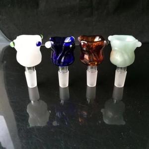 Розовое стекло пузырьковая головка (цвета поставляются случайным образом) , стекло масло горелки трубы красочные горелки стеклянная трубка