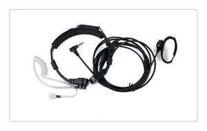 DHL Intercomunicador Ptt Throat Mic Covert Auricolare Tubo Auricolare Auricolare per Yaesu Vertex Vx-2r 3r Ft-50r Ft-60r 3.5mm 1 Pin Radio